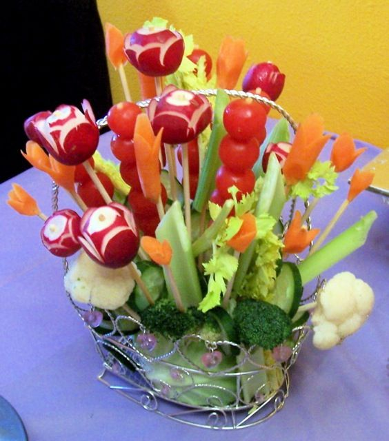 Vegetable Flower Basket Birthday party ideas Pinterest
