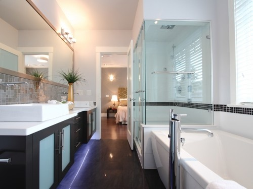 Long narrow bathroom fth master bath pinterest for Long bathroom ideas