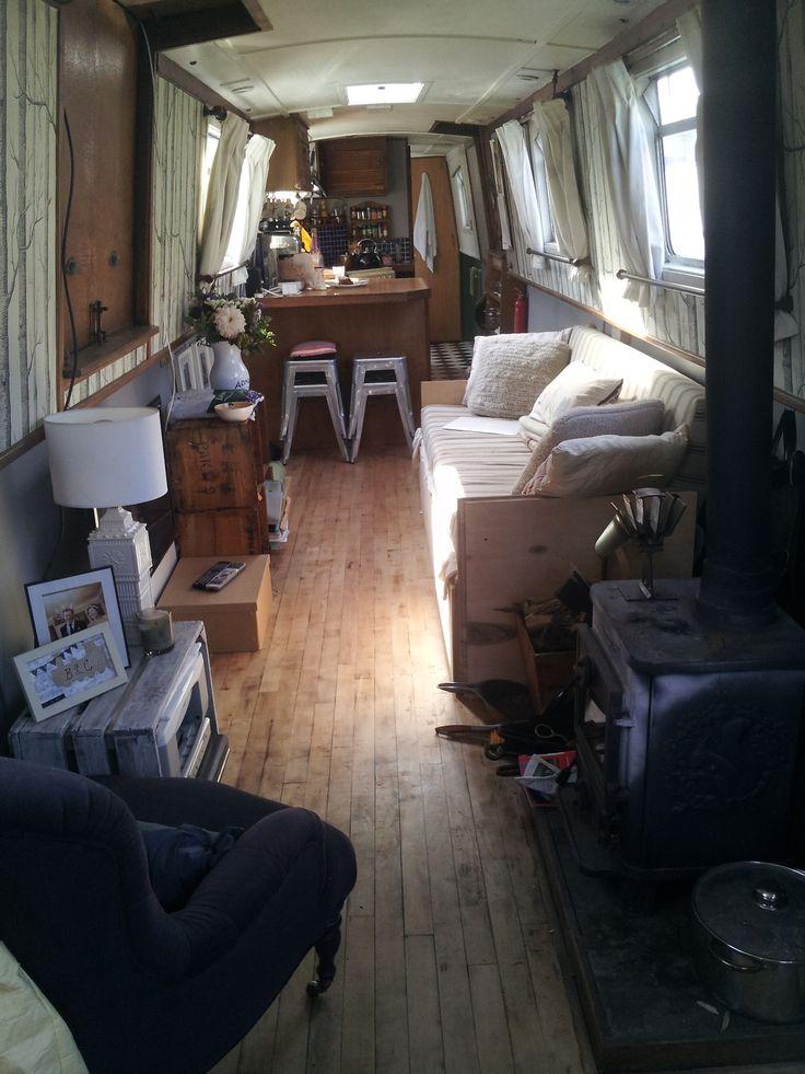 houseboat interior interesting pinterest. Black Bedroom Furniture Sets. Home Design Ideas