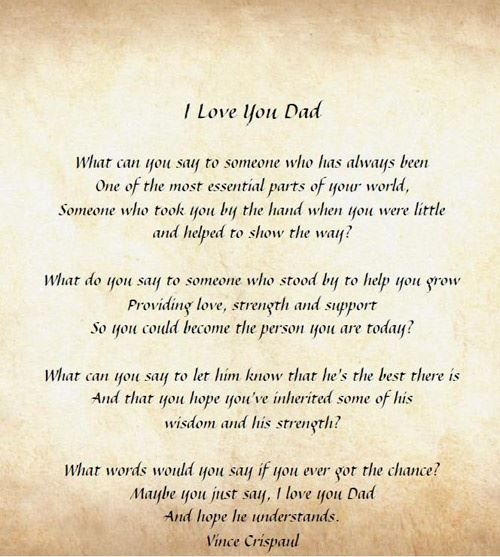 fathers day daughter poems