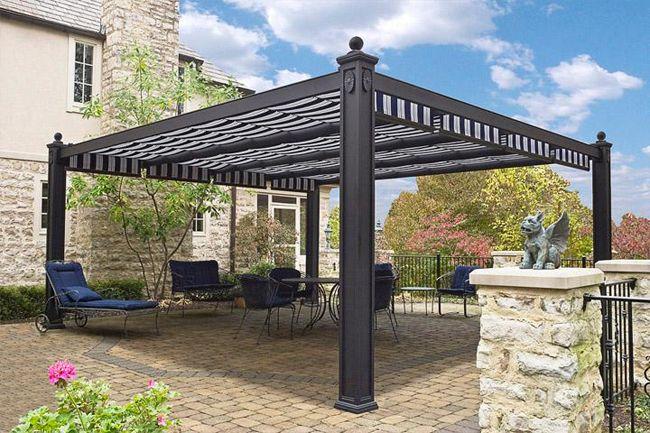 Pin by lynn jackson on garden stuff pinterest - Pergola adossee aluminium ...