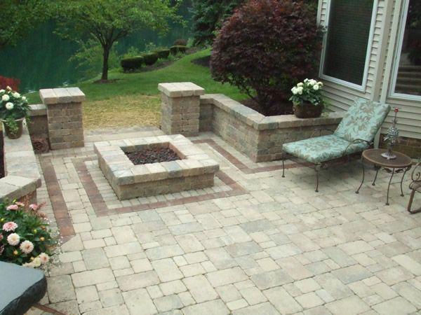 Square fire pit design | Outdoors | Pinterest