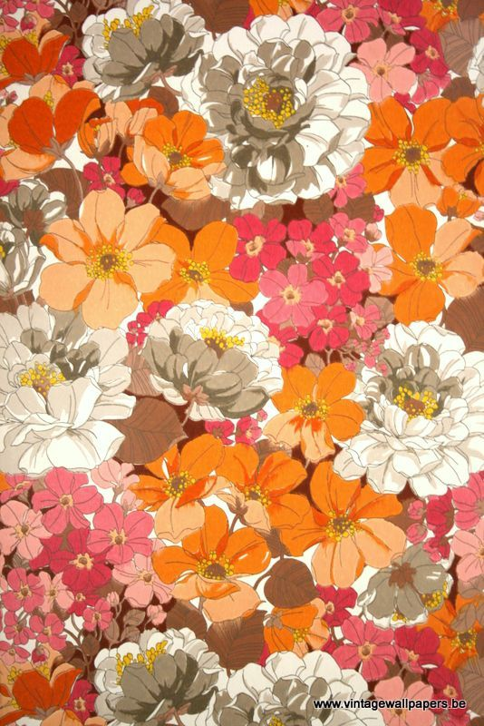 gallery for 70s floral wallpaper