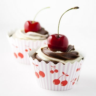 Cherry Chocolate Swirl Cupcakes   Desserts   Cupcakes   Pinterest