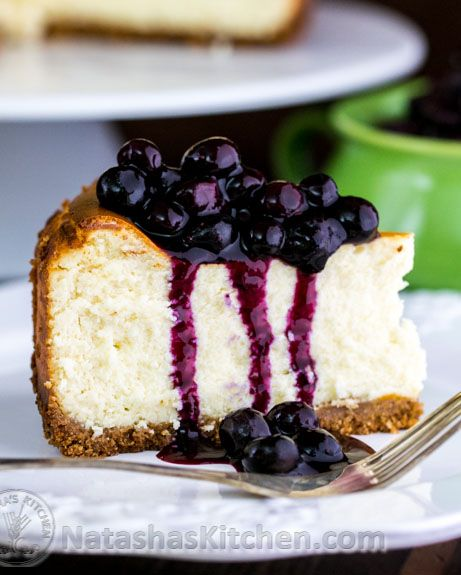 Best Cheesecake Recipe With Blueberry Topping @NatashasKitchen