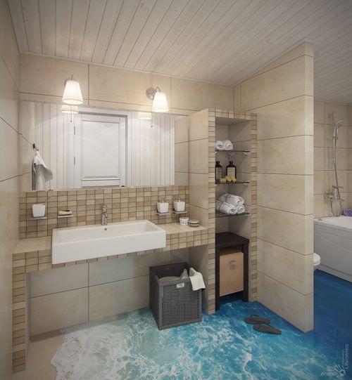 Beach themed bathroom home decor pinterest for Bathroom designs beach theme