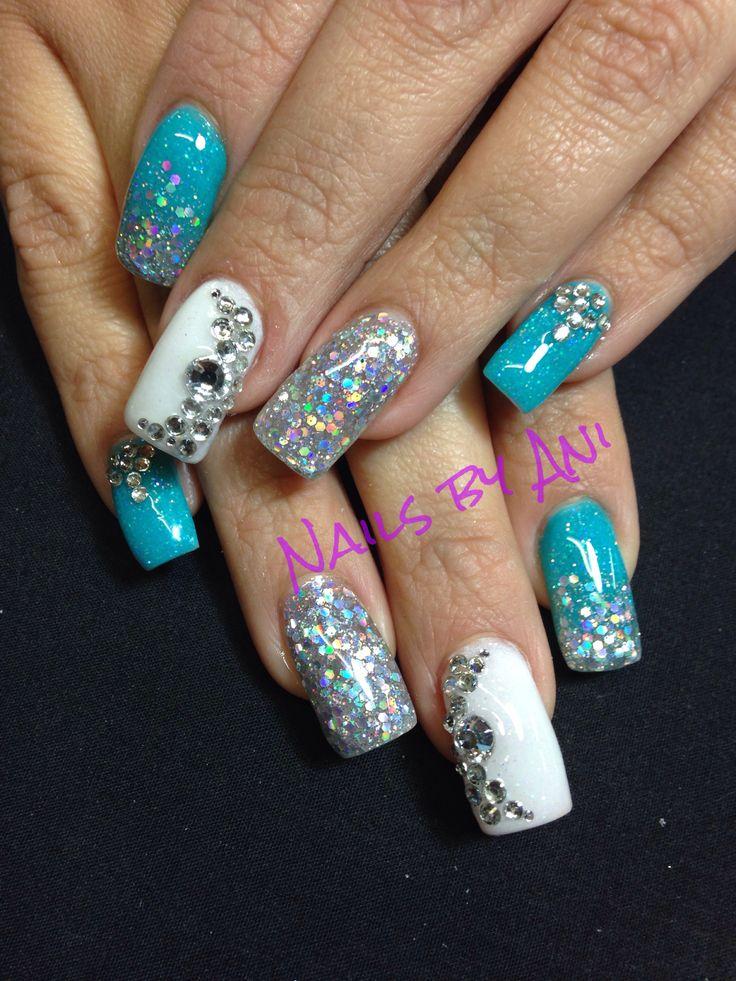 Funky Turquoise Nails Beauty Pinterest Nail Art Design Ideas
