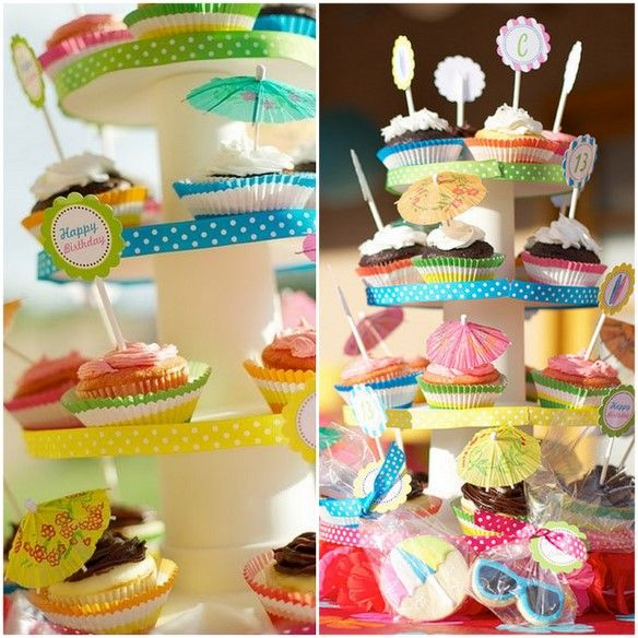 {Cupcake Monday} Pool Party Cupcakes!
