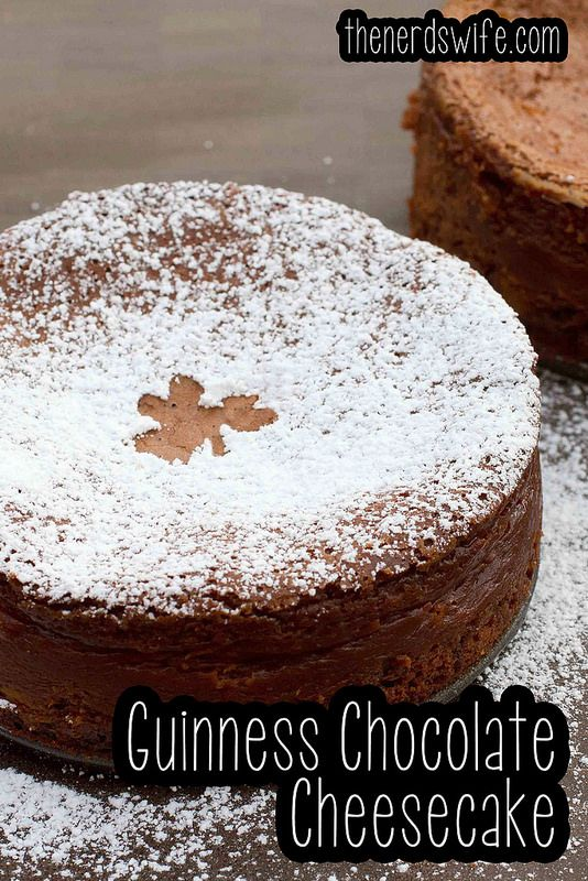 Guinness Chocolate Cheesecake! | N!FY Desserts | Pinterest