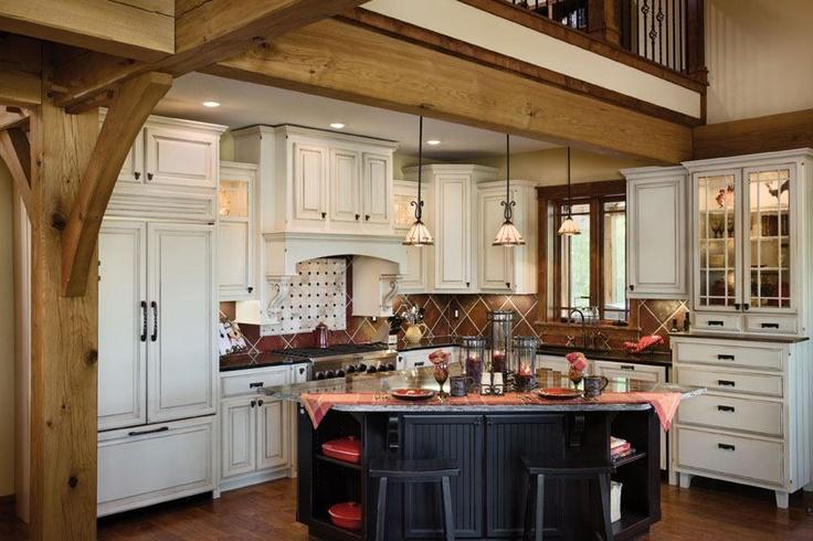 Timber frame kitchens timber frame homes pinterest - Home kitchen photos ...