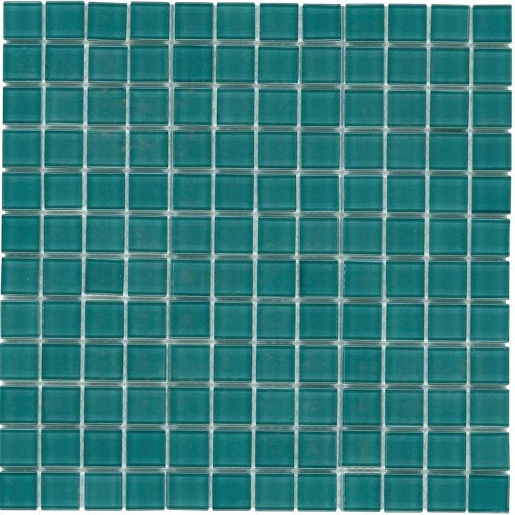 mineral tiles glass mosaic tile backsplash turquoise 1x1