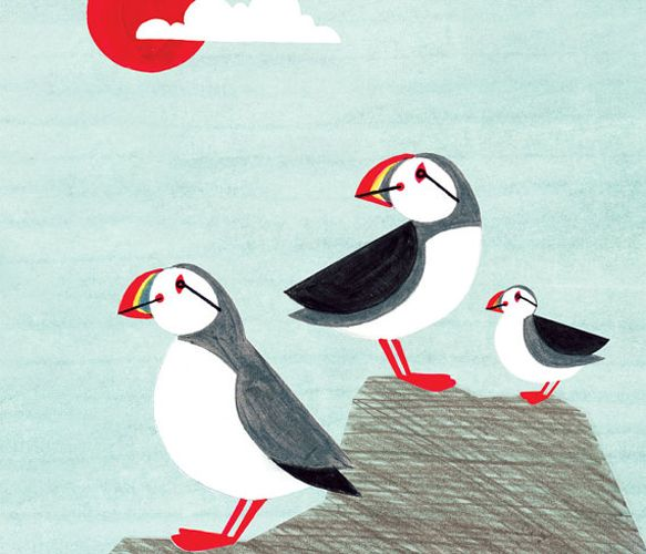 Puffin Family Print  by Anna See's Shop