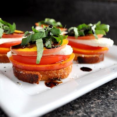 breanna s recipe box peach tomato and mozzarella crostini