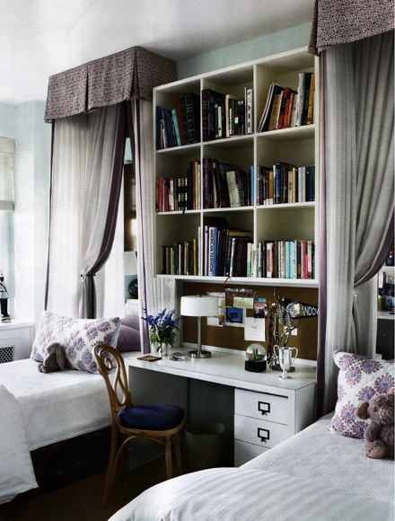 Great idea for guest room...House Beautiful | May 2013