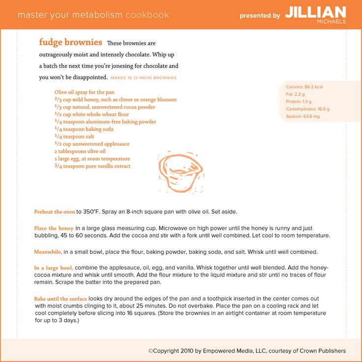Jillian Michaels' healthy brownie recipe with applesauce and whole ...