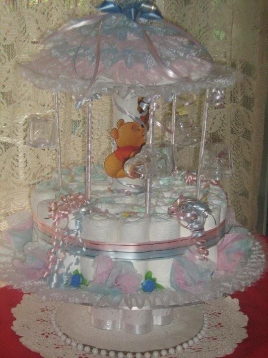 diaper carrousel baby shower ideas pinterest