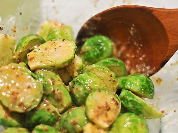 Grilling: Crispy Mustard Brussels Sprouts | Serious Eats : Recipes