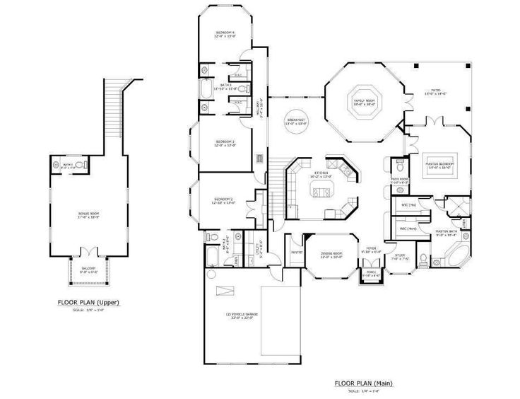 Unique open floor plans custom golf course homes floor for Unique house plans with open floor plans