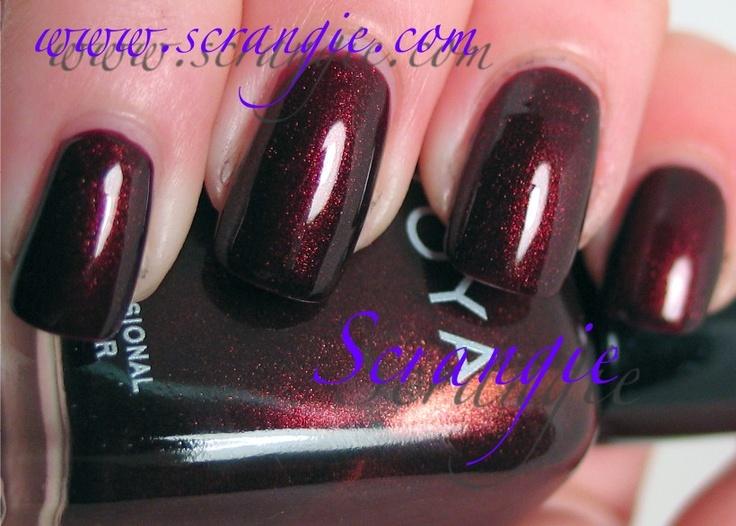 Zoya Kalista - Deep burgundy with gold flecks  Perfect nail color for    Zoya Kalista