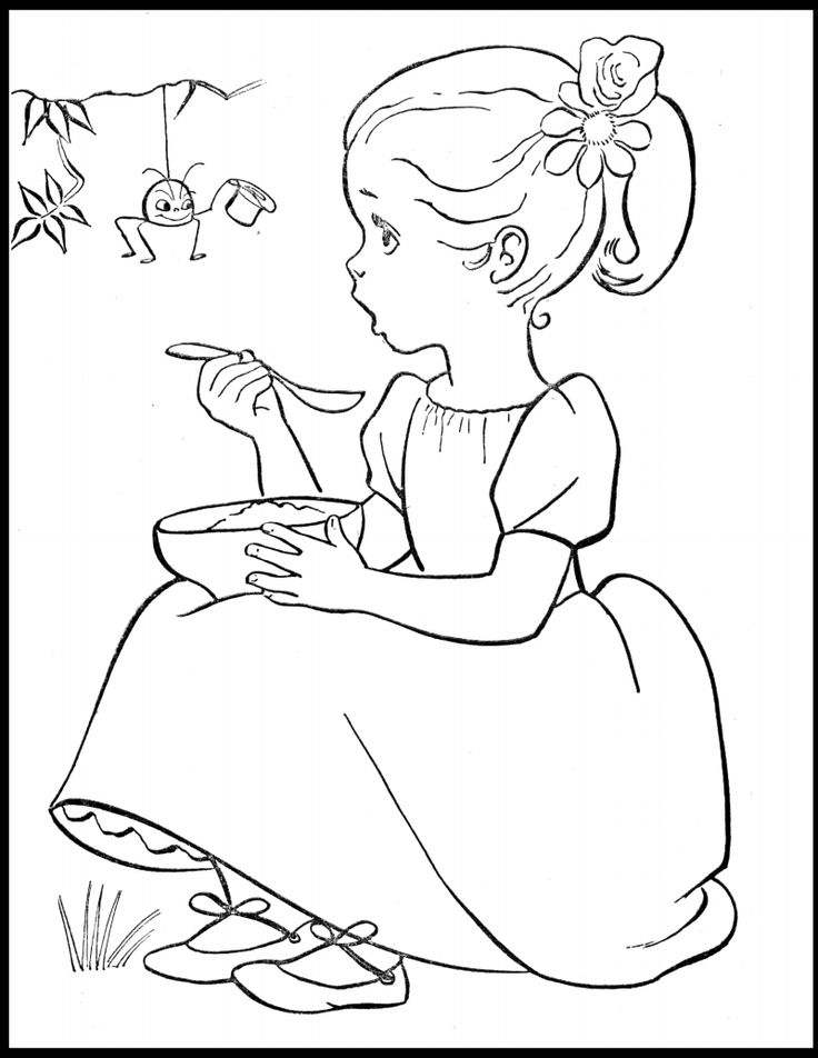 little miss muffet coloring pages - photo#6