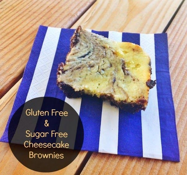 gluten free and sugar free cheesecake brownies (with vegan creamcheese ...