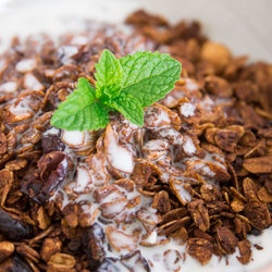 Chocolate Almond Granola-with recipes for Cherry Vanilla and Peach ...