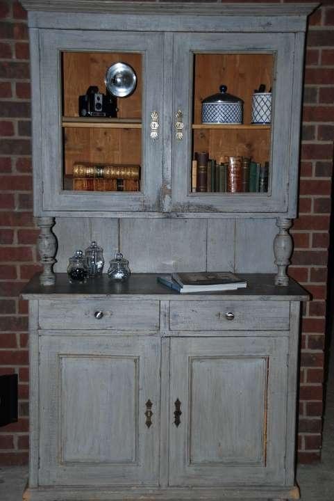Antique hutch country kitchen makeover pinterest