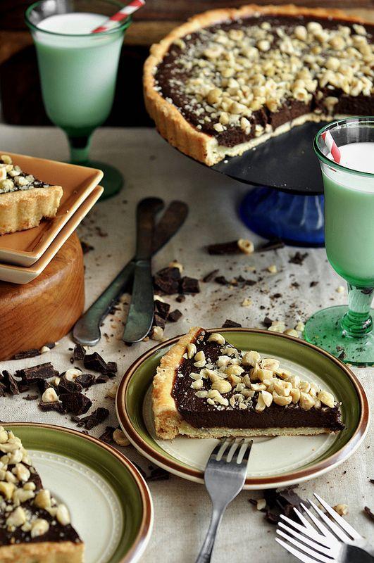Chocolate Espresso Hazelnut Tart | The Candid Appetite