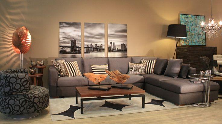 Sala escuadra en gris decoracion interiores pinterest for Decoracion de interiores en color gris