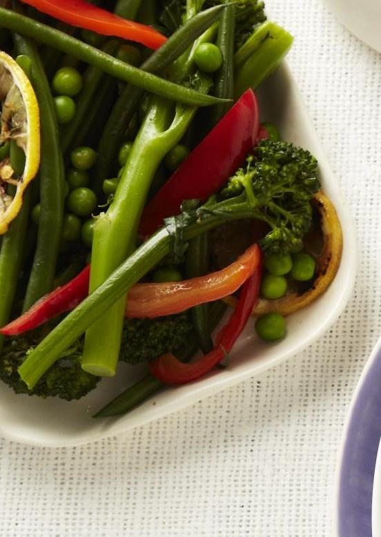 Spring Vegetable Saute from familycircle.com #myplate #veggies