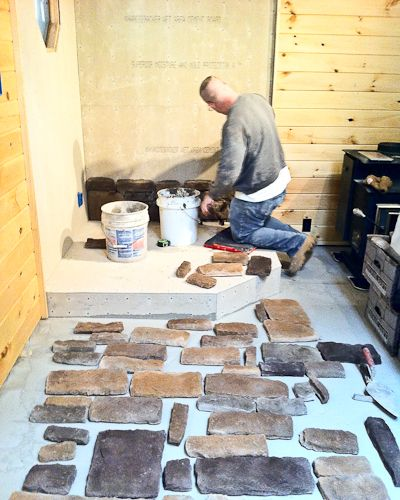 for a corner wood stove finished basement pinterest