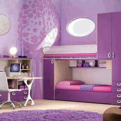pretty purple girls room girls room pinterest