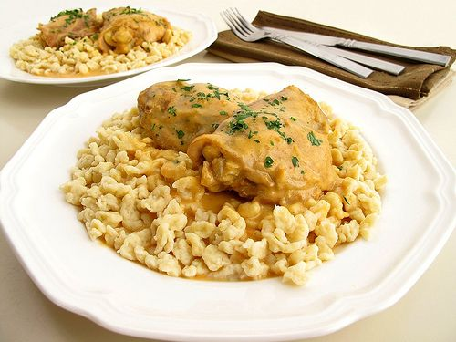 Chicken Paprikash (Paprikás Csirke) with a recipe for nokedli ...