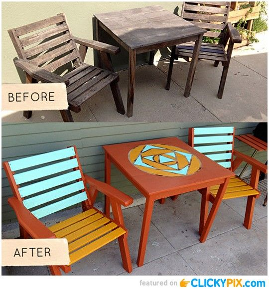 Before And After Furniture Diy Pinterest