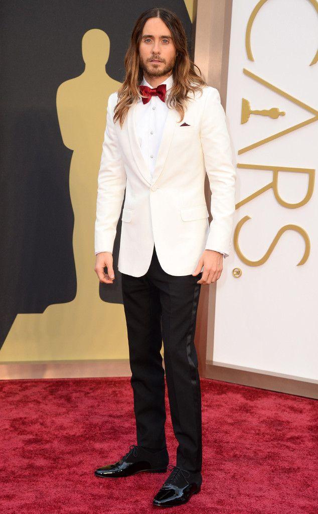 Jared Leto from 2014 Oscars Red Carpet Arrivals | E! Online--in Saint Laurent