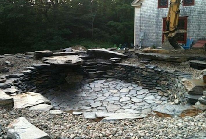 Natural pool swimming hole pinterest for How to build a concrete pond