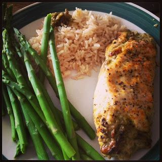 Kiki's Kitchen Corner: Baked Chicken Stuffed with Pesto and Cheese