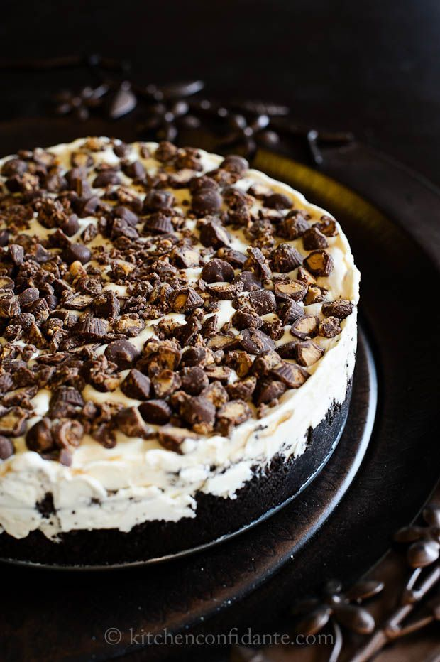 "Peanut Butter Cup Ice Cream ""Cake"" Pie. 