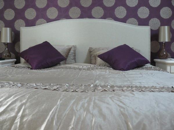 love the gray plum color combo bedroom ideas pinterest