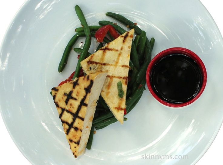 Spicy Grilled Tofu with Szechuan Vegetables