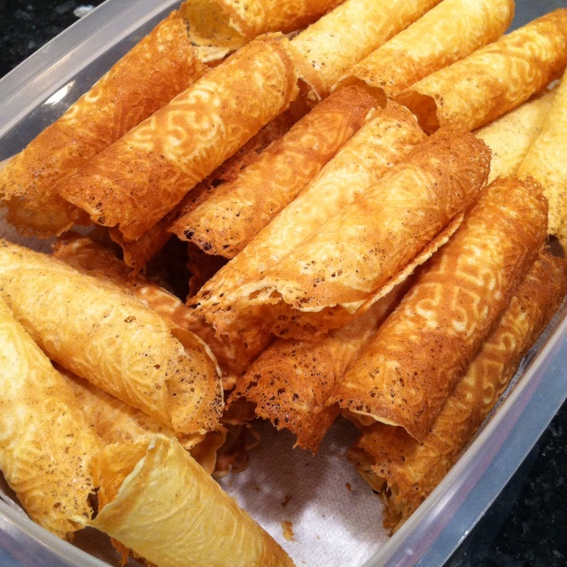 krumkake- My grandmother and mother always made these at Christmas. I ...