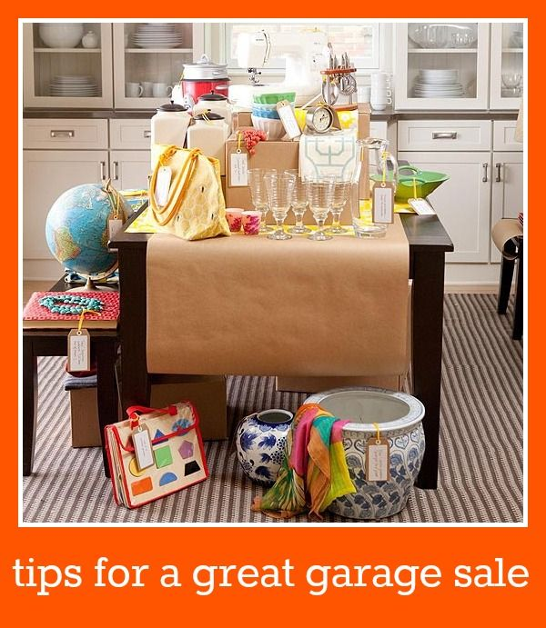 tips for a great #garage sale