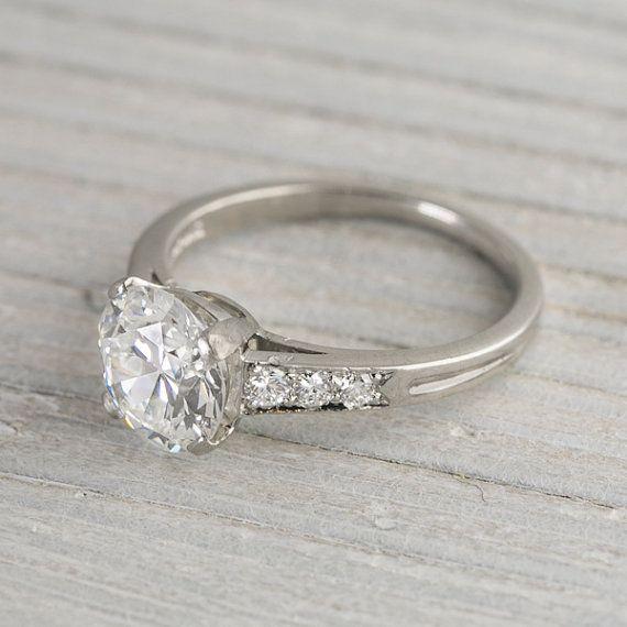 1 78 Carat Vintage Tiffany & Co Engagement Ring