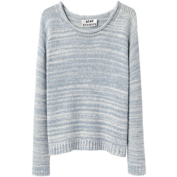 Acne Studios Sapata Twist Marled Crewneck Pullover ($168) found on Polyvore