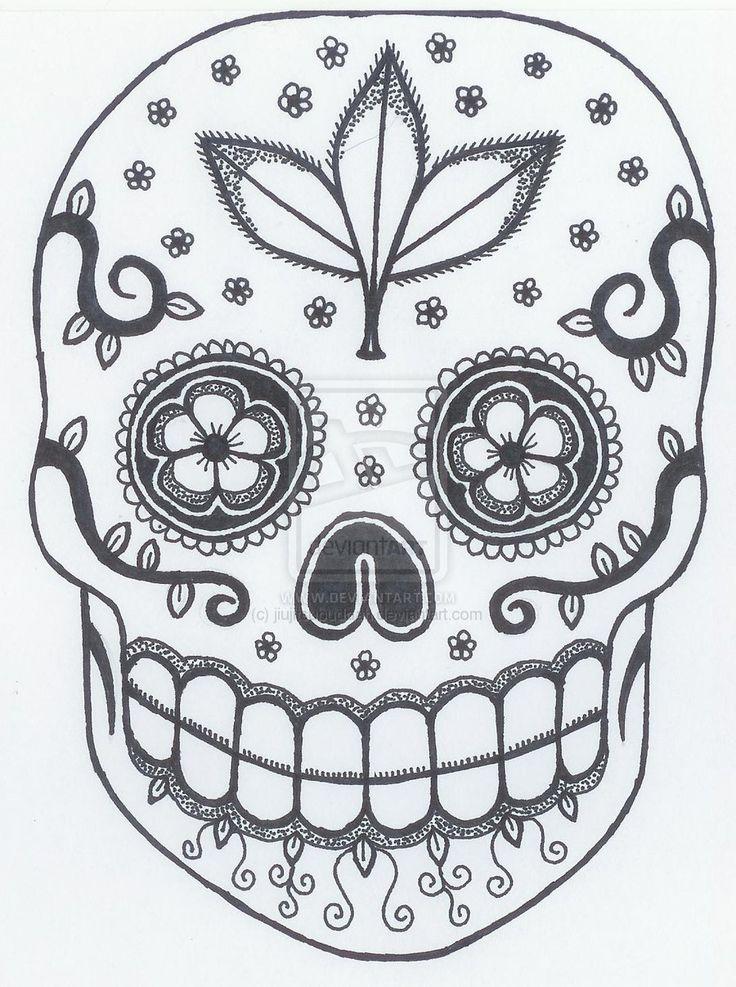 sugar skull designs coloring pages - photo#30