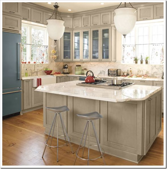 Grey with glaze cabinets @Milly Kay  Home ideas & decor  Pinterest