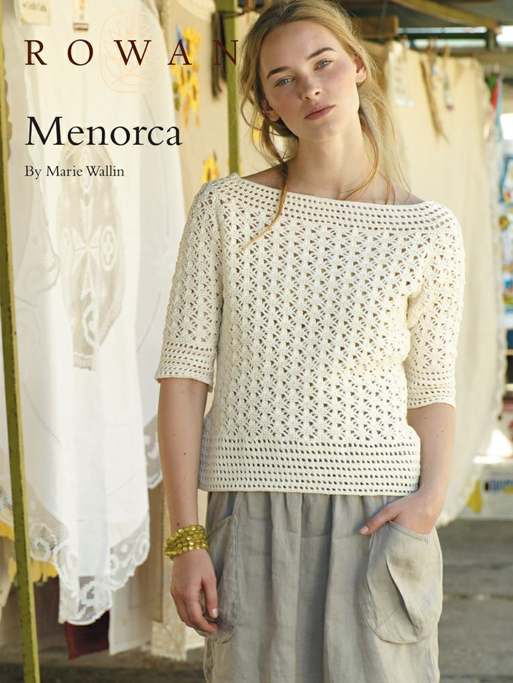 Menorca--free boatneck sweater pattern Crochet (Clothes) Pinterest