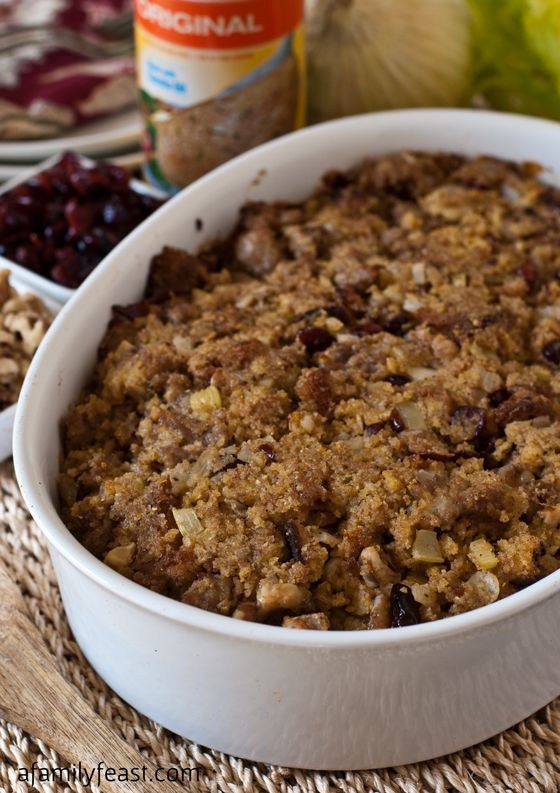 Cornbread Sausage Stuffing {PAM Holiday Tips & $100 Gift Card Giveaway ...