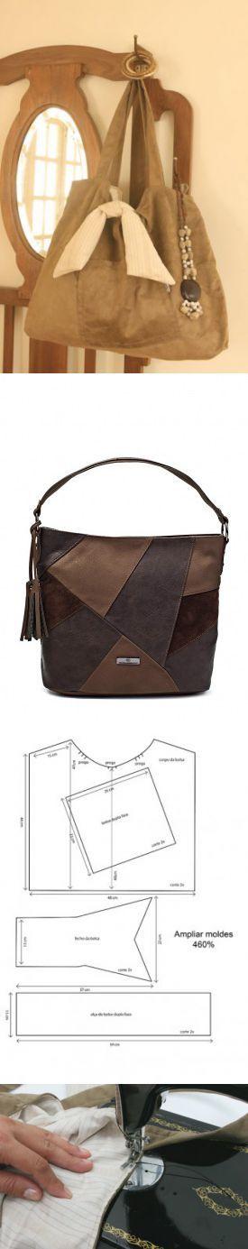 Женская сумка из замша: выкройка и мастер класс по шитью своими рукамм Hand made_Рукоделие. Сделай сам! Постила ? ? ? ? ? ? ? ?