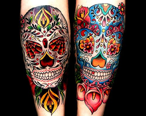 sugar skulls good and evil beautiful